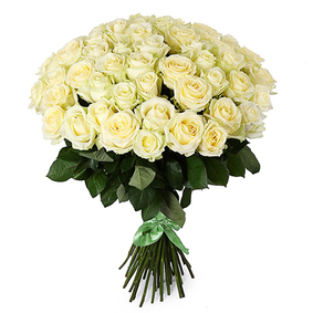 51 White Rose Bouquet