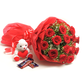 15 Roses Bouquet & chocolate