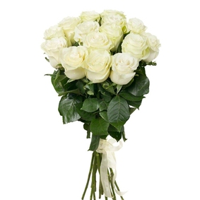 15 White Rose Bouquet