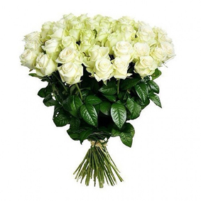 35 White Roses Bouquet
