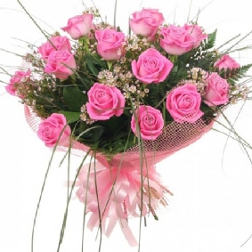 17 Pink Rose Bouquet