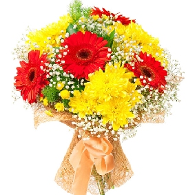 Chrysanthemum and Gerbera Bouquet 2